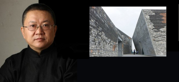 Wang Shu, photo courtesy of Pritzker Prize; Ningbo Historical Museum, photo by Iwan Baan